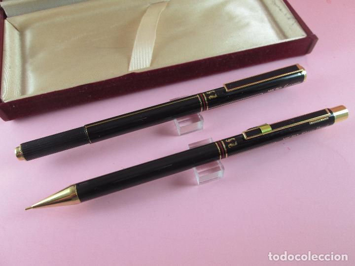 Estilográficas antiguas, bolígrafos y plumas: 9010-JUEGO-ESCRITURA-bolígrafo+portaminas-MICRO ceramic marvel-nos-ver fotos - Foto 2 - 26703210
