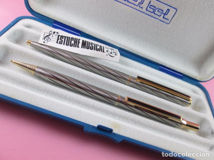 Estilográficas antiguas, bolígrafos y plumas: 9057-JUEGO BOLIGRAFO+PORTAMINAS-BEL BOL-MUSICAL-FUNCIONANDO-PERFECTO E. - Foto 2 - 37596480