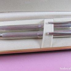 Estilográficas antiguas, bolígrafos y plumas: 9066/JUEGO-PLUMA+BOLIGRAFO-PLATA 925-ROBUSTO-14,5 CMS-VER FOTOS.. Lote 36911893