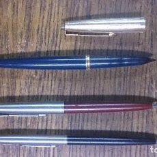 Estilográficas antiguas, bolígrafos y plumas: PLUMA ESTILOGRÁFICA PARKER Y 2BOLÍGRAFOS PARKER. Lote 102983215