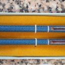 Estilográficas antiguas, bolígrafos y plumas: CONJUNTO DE BOLIGRAFO Y ROLLER AÑOS 80. Lote 103266243
