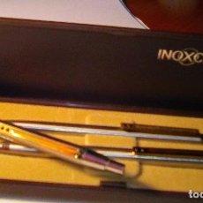 Estilográficas antiguas, bolígrafos y plumas: LOTE BOLIGRAFO Y PORTAMINAS INOXCROM 2001, EN CAJA. MAS OTRO BOLIGRAFO INOXCROM 2001. Lote 105701467