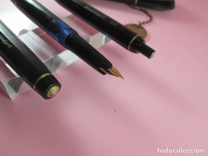 Estilográficas antiguas, bolígrafos y plumas: JUEGO DE PLUMA Y BOLIGRAFO-KAWECO SPORT 619-RESINA NEGRA Y ORO-FUNDA-. - Foto 8 - 37132185