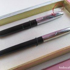 Estilográficas antiguas, bolígrafos y plumas: 8812/JUEGO-PLUMA+BOLÍGRAFO-SHEAFFER-CAJA-NUEVO-1970S-.. Lote 44994047