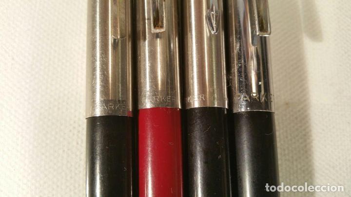 Estilográficas antiguas, bolígrafos y plumas: 4 PLUMAS PARKER DIFERENTES PARA COLECCIONISTAS - Foto 2 - 107748523