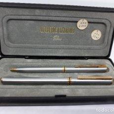 Estilográficas antiguas, bolígrafos y plumas: WATERMAN PARIS - PLUMA/BOLIGRAFO ORO - AÑOS 70. Lote 108912927