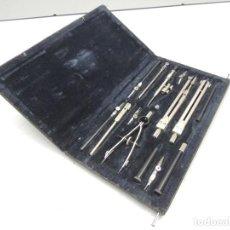 Estilográficas antiguas, bolígrafos y plumas: ANTIGUA CAJA DE COMPASES URRS GOTOVALNIA DE LOS AÑOS 50 - 60. Lote 108988271