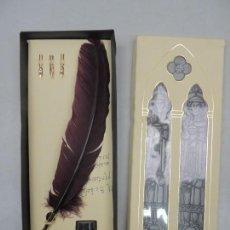 Estilográficas antiguas, bolígrafos y plumas: BONITO CONJUNTO DE ESCRIBIR EXCELENTES ACCESORIOS ESTILO RETRO . Lote 110002951