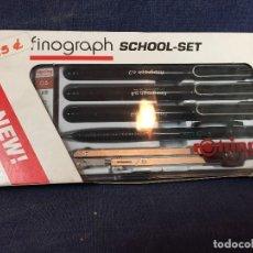 Estilográficas antiguas, bolígrafos y plumas: ROTRING FINOGRAPH SCHOOL SET RESISTENTE AL AGUA 0,2/ 0,4/ 0,5/0,8 20 X 11 X 2 CM 215 GR. Lote 110318671