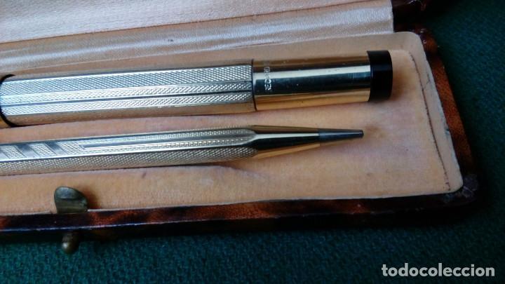 Estilográficas antiguas, bolígrafos y plumas: Antiguo juego Record retractil oro 18k .Pluma y lapiz años 30 - Foto 3 - 110477559
