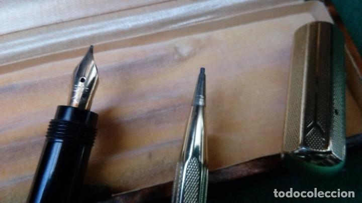 Estilográficas antiguas, bolígrafos y plumas: Antiguo juego Record retractil oro 18k .Pluma y lapiz años 30 - Foto 5 - 110477559