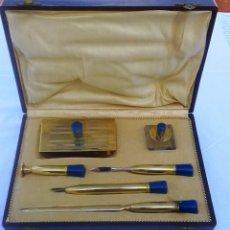 Estilográficas antiguas, bolígrafos y plumas: PRECIOSO ESTUCHE ESCRIBANIA. Lote 111364807