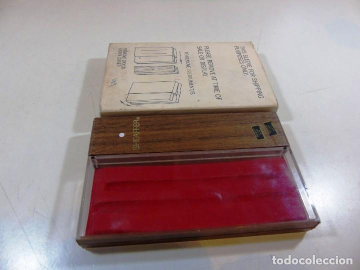Estilográficas antiguas, bolígrafos y plumas: Antiguo estuche para pluma y boligrafo de la firma Sheaffer - Foto 2 - 111624475