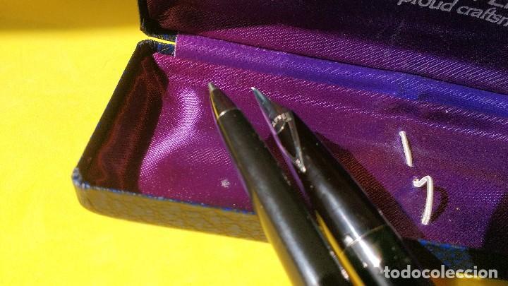 Estilográficas antiguas, bolígrafos y plumas: Pluma y boligrafo SHEAFFER mod Imperial II, años 70 - Foto 4 - 113485983