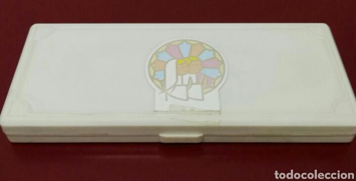 Estilográficas antiguas, bolígrafos y plumas: Bolígrafo y llavero recuerdo de comunión - Foto 3 - 114662575