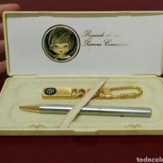 Estilográficas antiguas, bolígrafos y plumas: BOLÍGRAFO Y LLAVERO RECUERDO DE COMUNIÓN. Lote 114662575