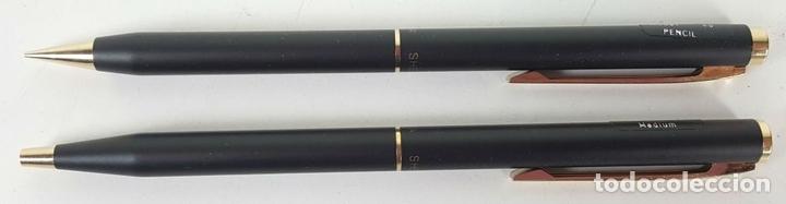 Estilográficas antiguas, bolígrafos y plumas: CONJUNTO DE BOLÍGRAFO Y PORTAMINAS. SHEAFFER. MODELO 60. CAJA ORIGINAL. AÑOS 80. - Foto 4 - 114959939