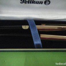 Estilográficas antiguas, bolígrafos y plumas: PLUMA Y BOLÍGRAFO PELIKAN EN ESTUCHE. NUEVOS.. Lote 116287063