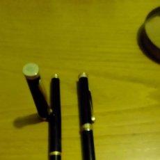 Estilográficas antiguas, bolígrafos y plumas: PLUMA ESTILOGRÁFICA Y BOLÍGRAFO. Lote 116300403