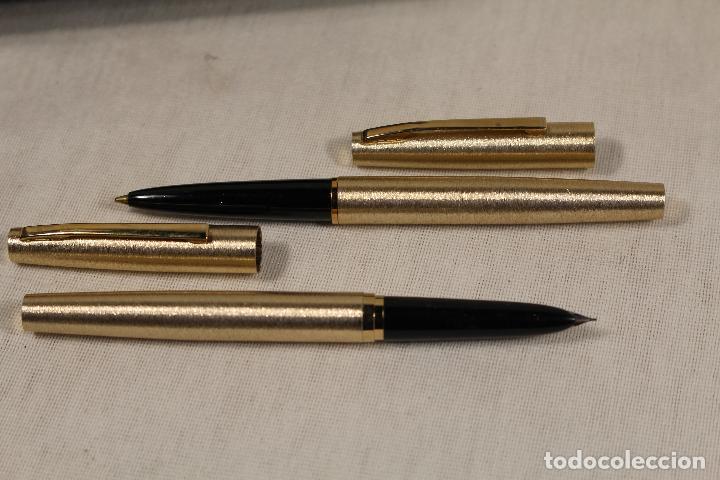 Estilográficas antiguas, bolígrafos y plumas: juego-pluma estilográfica+bolígrafo-bel bol - Foto 5 - 118419219