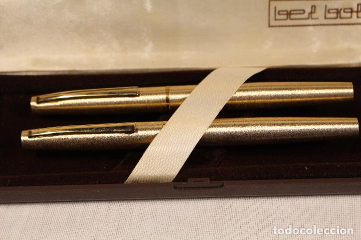 Estilográficas antiguas, bolígrafos y plumas: juego-pluma estilográfica+bolígrafo-bel bol - Foto 6 - 118419219