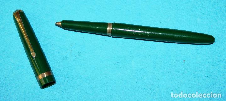 Estilográficas antiguas, bolígrafos y plumas: CONJUNTO DE PLUMA ESTILOGRAFICA Y PORTAMINAS CONWAY STEWART - Foto 2 - 118572827