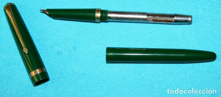 Estilográficas antiguas, bolígrafos y plumas: CONJUNTO DE PLUMA ESTILOGRAFICA Y PORTAMINAS CONWAY STEWART - Foto 3 - 118572827