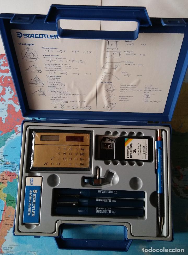 Estilográficas antiguas, bolígrafos y plumas: Conjunto plumas técnicas, portaminas, tinta china... Staedtler, - Foto 3 - 118889667