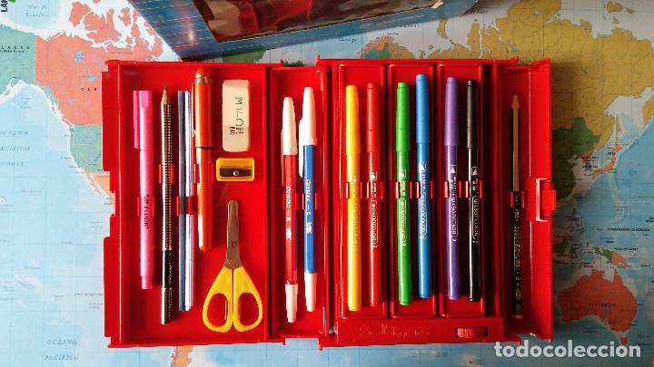 Estilográficas antiguas, bolígrafos y plumas: Estuche escolar JAIMARC, Años 80 - Foto 2 - 118893727