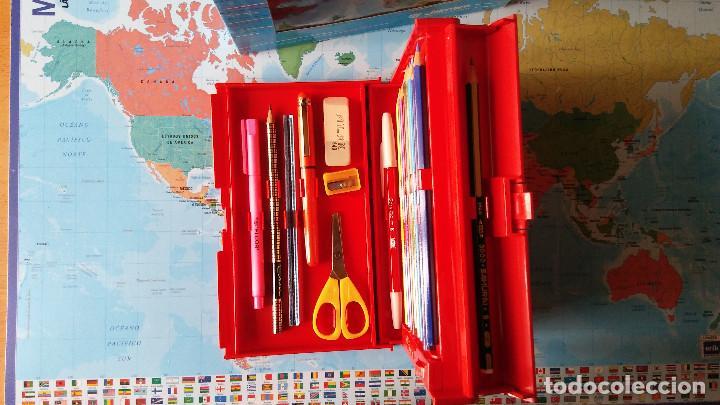 Estilográficas antiguas, bolígrafos y plumas: Estuche escolar JAIMARC, Años 80 - Foto 4 - 118893727