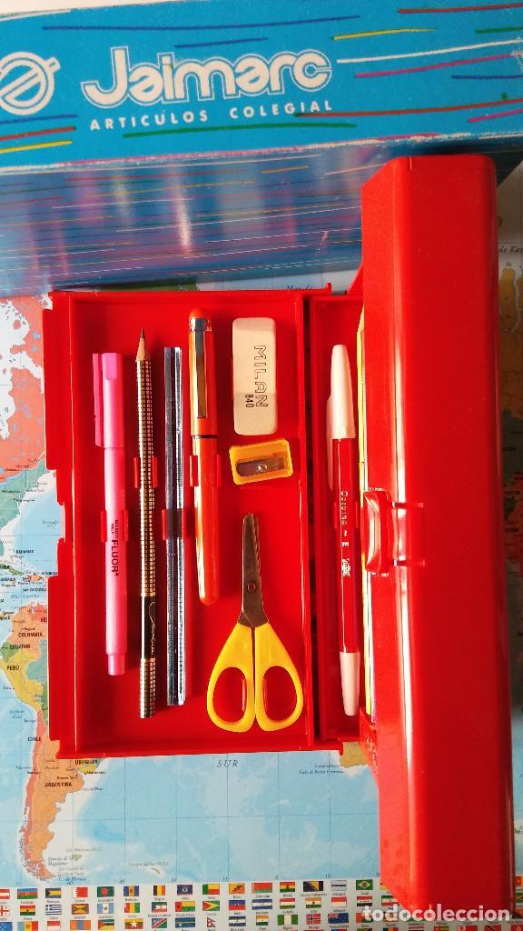 Estilográficas antiguas, bolígrafos y plumas: Estuche escolar JAIMARC, Años 80 - Foto 5 - 118893727