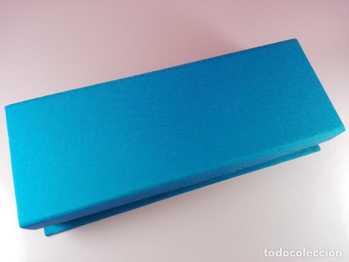 Estilográficas antiguas, bolígrafos y plumas: 5040-juego-bel bol-azul+cromo-nuevo-caja-ver fotos - Foto 5 - 119147919