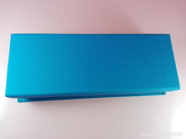 Estilográficas antiguas, bolígrafos y plumas: 5040-juego-bel bol-azul+cromo-nuevo-caja-ver fotos - Foto 6 - 119147919