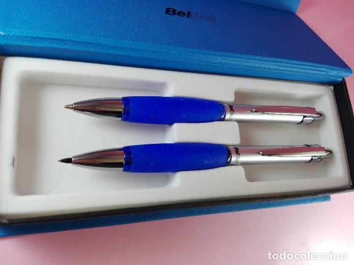 Estilográficas antiguas, bolígrafos y plumas: 5040-juego-bel bol-azul+cromo-nuevo-caja-ver fotos - Foto 8 - 119147919