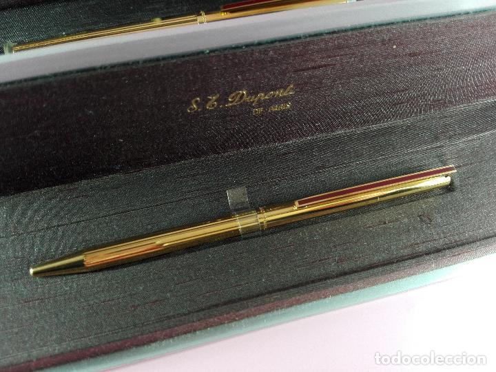 Estilográficas antiguas, bolígrafos y plumas: 4872·/juego-st.dupont-pluma+bolígrafo classique-perfecto-grabado:JC-cajas-convertidor-papel-ver fot - Foto 33 - 90240460