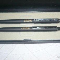 Estilográficas antiguas, bolígrafos y plumas: JUEGO BOLIGRAFO Y LÁPIZ INOXCROM EN ESTUCHE. Lote 120148587