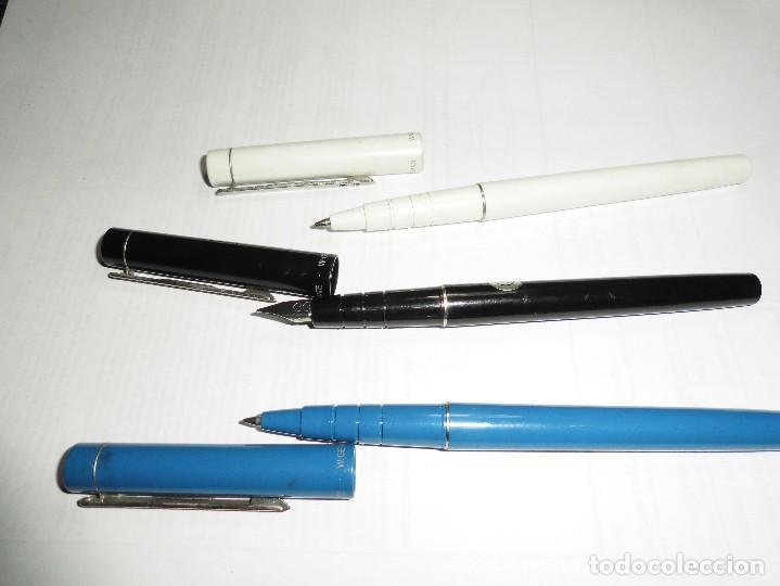 Estilográficas antiguas, bolígrafos y plumas: magnificos dos boligrafos y una pluma paper mate - Foto 2 - 120852087