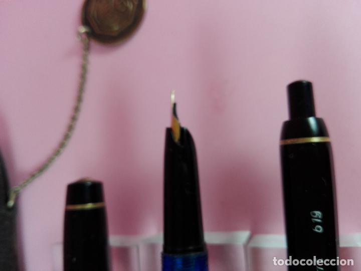 Estilográficas antiguas, bolígrafos y plumas: 4841-JUEGO-PLUMA+BOLIGRAFO-KAWECO SPORT 619-F-NEGRO Y DORADO-FUNDA-PERFECTO. - Foto 9 - 36775593