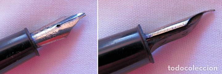 Estilográficas antiguas, bolígrafos y plumas: LOTE DE DOS PLUMAS ESTILOGRAFICAS DE PALANCA ANTIGUAS - Foto 3 - 121070535