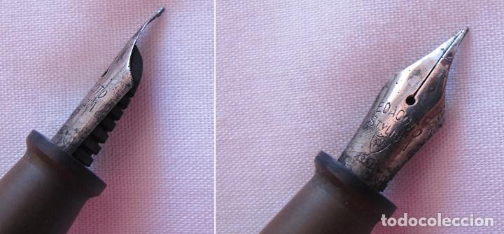 Estilográficas antiguas, bolígrafos y plumas: LOTE DE DOS PLUMAS ESTILOGRAFICAS DE PALANCA ANTIGUAS - Foto 4 - 121070535