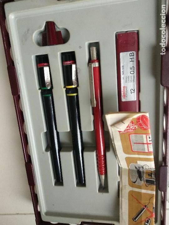 Estilográficas antiguas, bolígrafos y plumas: Estuche Estilografos Rotring College - Foto 2 - 122269735