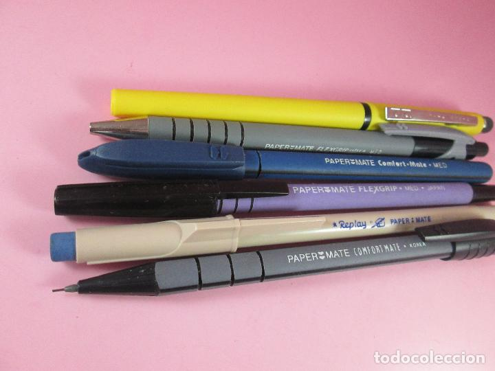 Estilográficas antiguas, bolígrafos y plumas: lote de 3 bolígrafos+2 portamins-paper mate-funcionando-ver fotos - Foto 7 - 122876999
