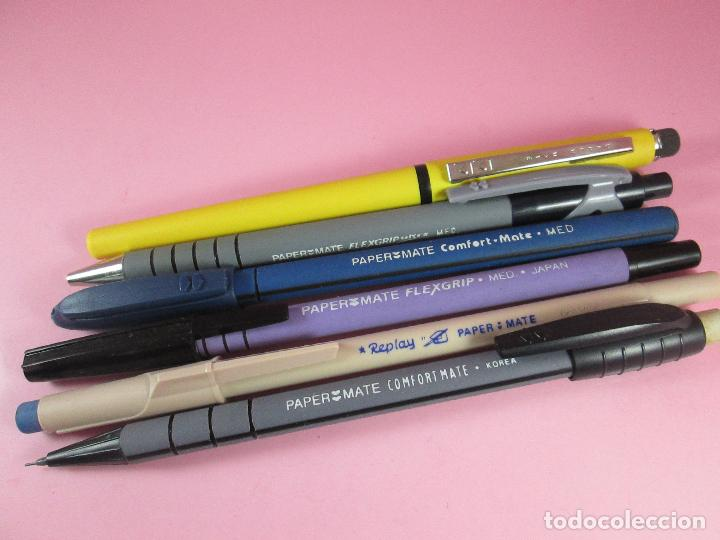 Estilográficas antiguas, bolígrafos y plumas: lote de 3 bolígrafos+2 portamins-paper mate-funcionando-ver fotos - Foto 8 - 122876999