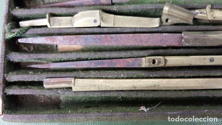 Estilográficas antiguas, bolígrafos y plumas: CONJUNTO DE TIRALINEAS Y COMPASES. LATÓN. SIGLO XIX-XX. - Foto 2 - 123127187