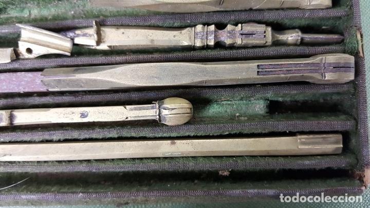 Estilográficas antiguas, bolígrafos y plumas: CONJUNTO DE TIRALINEAS Y COMPASES. LATÓN. SIGLO XIX-XX. - Foto 4 - 123127187