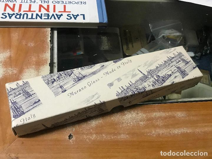 Estilográficas antiguas, bolígrafos y plumas: PLUMA DE CRISTAL DE MURANO CON TINTERO - Foto 2 - 123551543
