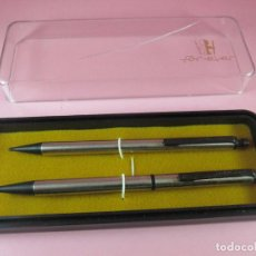 Estilográficas antiguas, bolígrafos y plumas: 4848/JUEGO-BOLÍGRAFO+PORTAMINAS-FOR EVER-NOS-CAJA-VER FOTOS. Lote 123886643
