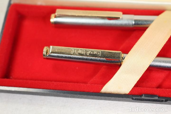 Estilográficas antiguas, bolígrafos y plumas: juego- pluma estilografica+bolígrafo -bel bol - Foto 5 - 126316567