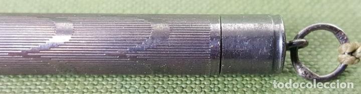 Estilográficas antiguas, bolígrafos y plumas: COLECCIÓN DE 3 PORTA MINAS. DOS DE ELLOS CON EL CUERPO DE PLATA. SIGLO XX. - Foto 2 - 126928379