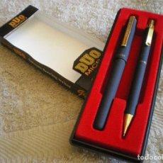 Estilográficas antiguas, bolígrafos y plumas: ESTUCHE DE BOLIGRAFO Y PORTAMINAS DE 0,5 MM.FABRICADOS EN COREA DEL SUR NUEVOS.. Lote 129369883